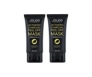 JoLee Activated Charcoal Black Peel-Off Mask - 2 Pack