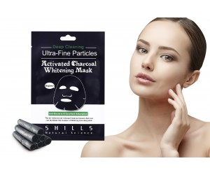 SHILLS Activated Charcoal Whitening/Brightening Ultra-Fine Facial Mask